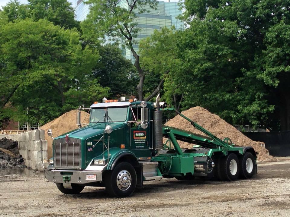 New England Recycling trucks