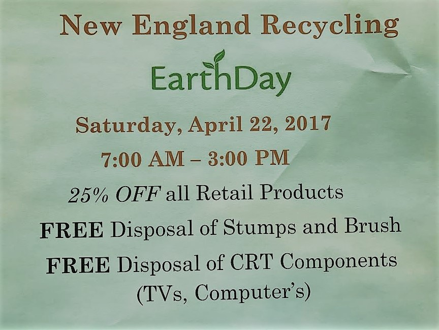 New England Recycling - EarthDay 2017